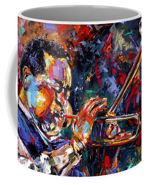 Jazz Coffee Mug featuring the painting Dizzy Gillespie by Debra Hurd
