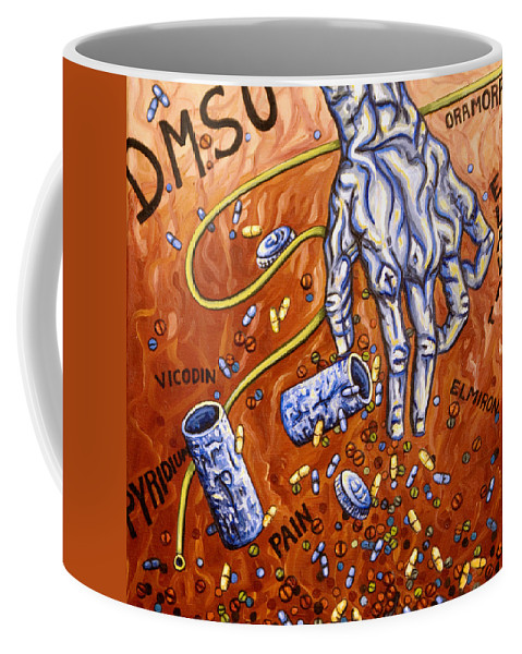Pain Coffee Mug featuring the painting Dmso by Judy Henninger