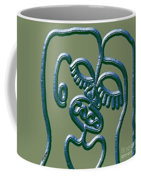 Kiss Coffee Mug featuring the painting Dna 2 by Patrick J Murphy