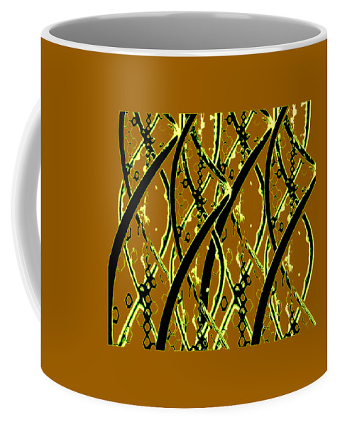 Dna Products Coffee Mug featuring the mixed media Dna Design by Jay Pumphrey Jr