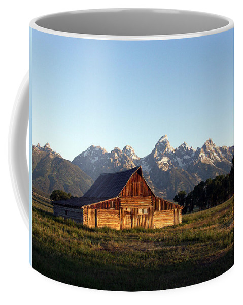 Landscape Yellowstone Grand Tetons Cabin Coffee Mug featuring the photograph Dnrd0104 by Henry Butz