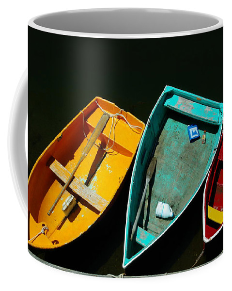 Landscape Nautical Row Boat New England Rockport Coffee Mug featuring the photograph Dnre0603 by Henry Butz