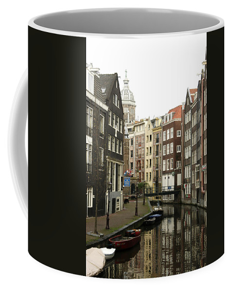Landscape Amsterdam Red Light District Coffee Mug featuring the photograph Dnrh1101 by Henry Butz