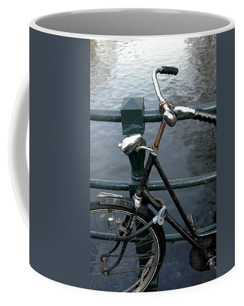 Landscape Amsterdam Red Light District Bicycle Coffee Mug featuring the photograph Dnrh1104 by Henry Butz
