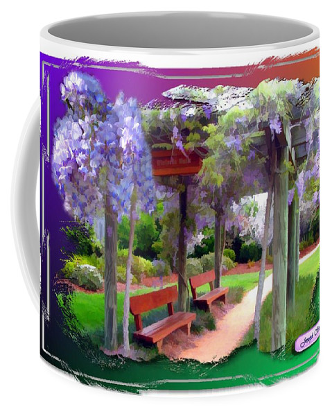 Wisteria Walk Coffee Mug featuring the photograph Do-00011 Wisteria Walk by Digital Oil