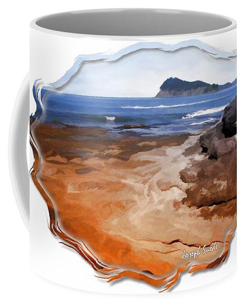 Beach Coffee Mug featuring the photograph Do-00016 Pearl Beach by Digital Oil