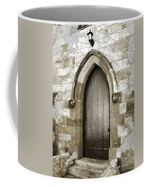 Chapels Coffee Mug featuring the photograph Do-00055 Chapels Door In Morpeth Village by Digital Oil