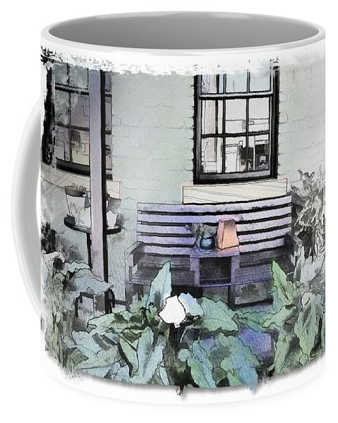 Shop Front Coffee Mug featuring the photograph Do-00056 Shop Front In Morpeth Village by Digital Oil