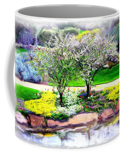 Trees Coffee Mug featuring the photograph Do-00066 Lake Walk by Digital Oil