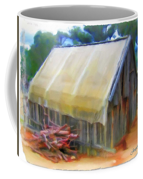 Hutt Coffee Mug featuring the photograph Do-00069 Small Hut by Digital Oil