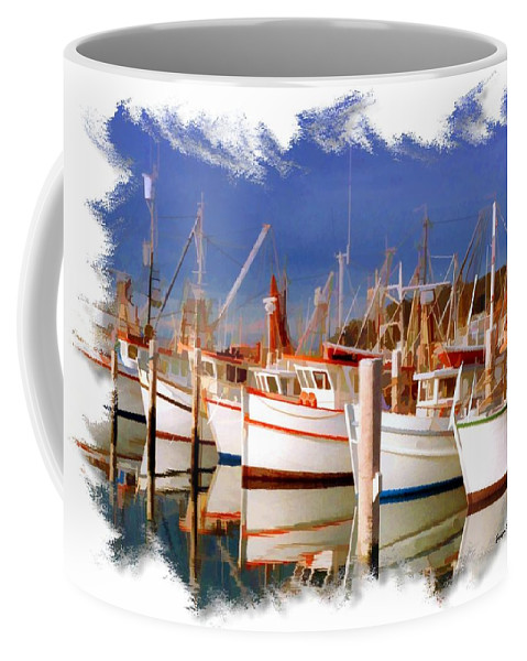 Bay Coffee Mug featuring the photograph Do-00096 Boats In Nelson Bay Early 90s by Digital Oil