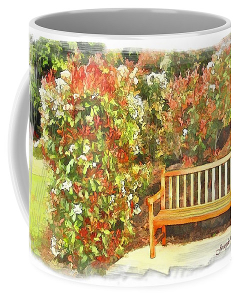 Central Coast Coffee Mug featuring the photograph Do-00122 Inviting Bench by Digital Oil