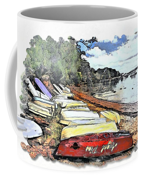 Tender Coffee Mug featuring the photograph Do-00124 Tender Boats by Digital Oil