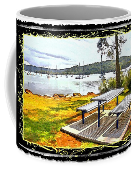 Picnic Coffee Mug featuring the photograph Do-00126 Picnic Spot by Digital Oil