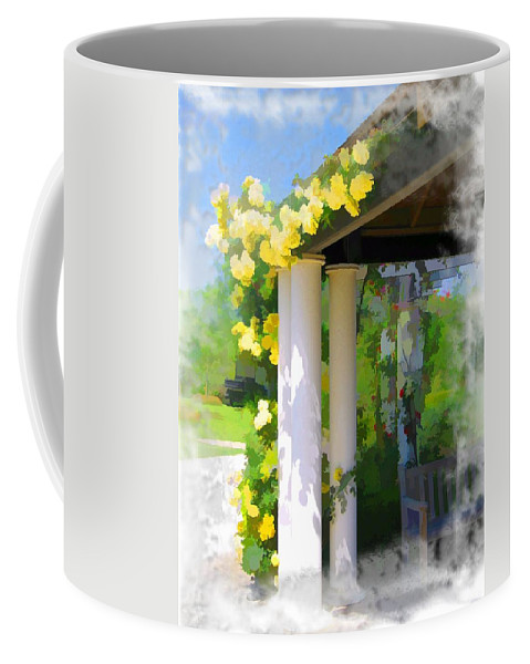 Yellow Roses Coffee Mug featuring the photograph Do-00137 Yellow Roses by Digital Oil