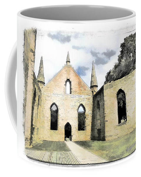 Church Coffee Mug featuring the photograph Do-00244 Abandoned Church by Digital Oil