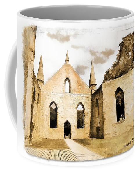 Church Coffee Mug featuring the photograph Do-00248 Church At Port Arthur by Digital Oil