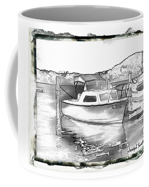Boat Coffee Mug featuring the photograph Do-00250 A Boat by Digital Oil