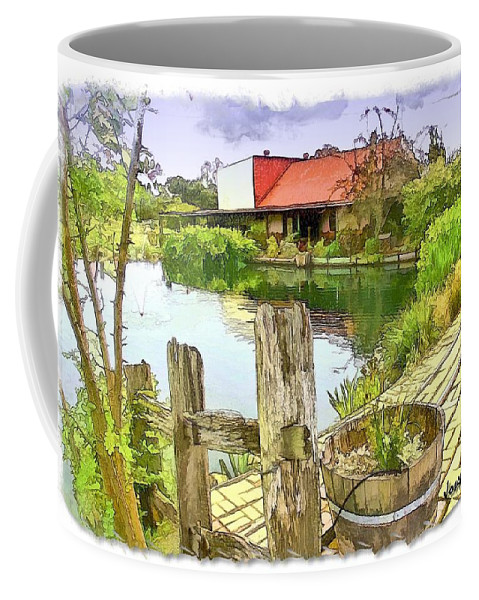 Farm Coffee Mug featuring the photograph Do-00251 A Farm In Hunter Valley by Digital Oil