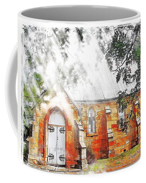 Ghostly Effect Coffee Mug featuring the photograph Do-00264 Ghostly Look Of St John Church by Digital Oil