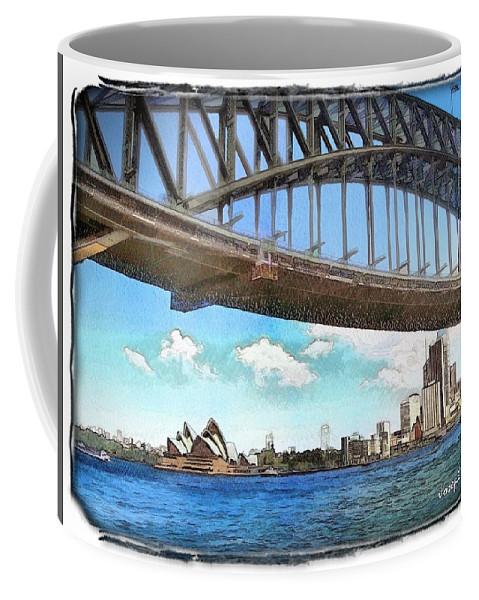 Sydney Harbour Bridge Coffee Mug featuring the photograph Do-00284 Sydney Harbour Bridge And Opera House by Digital Oil