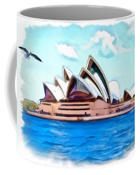 Sydney Opera House Coffee Mug featuring the photograph Do-00293 Sydney Opera House by Digital Oil
