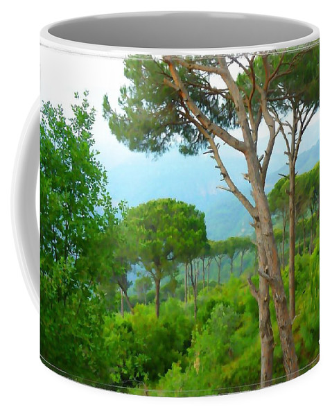 Pine Coffee Mug featuring the photograph Do-00301 Pine Trees Forest In Aaraya by Digital Oil