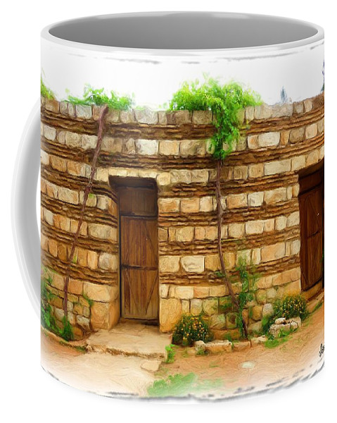 Old Hutt Coffee Mug featuring the photograph Do-00305 Old Hutt In Anjar by Digital Oil