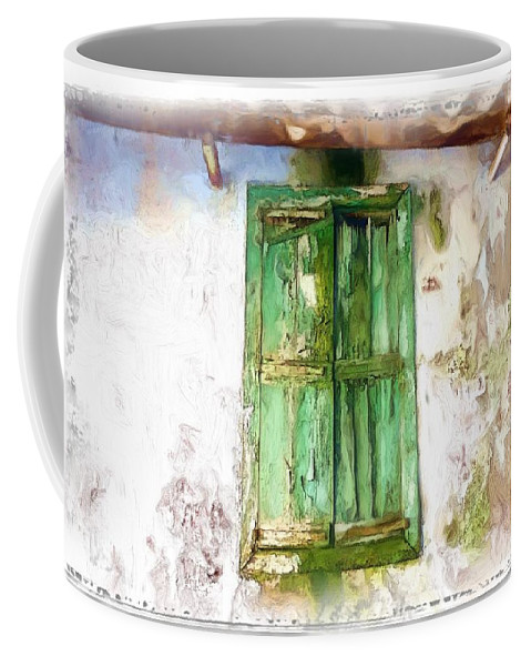 Soaked Window Coffee Mug featuring the photograph Do-00320 Soaked Window by Digital Oil