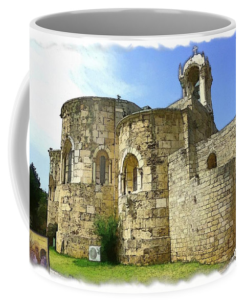 Old Church Coffee Mug featuring the photograph Do-00344 Church Of St John Marcus In Byblos by Digital Oil