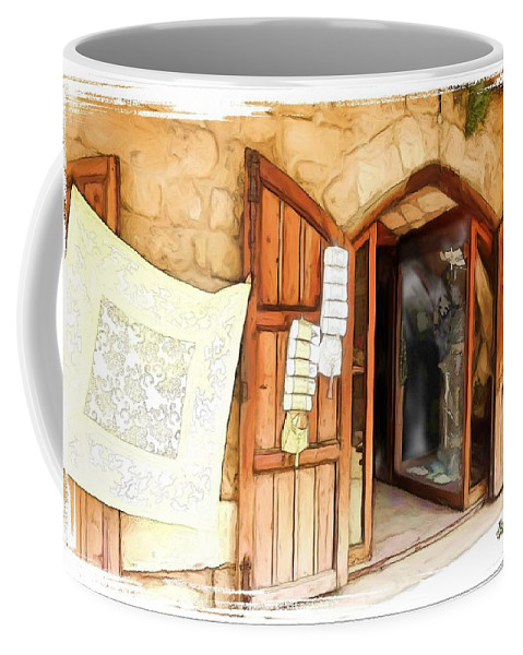 Display Coffee Mug featuring the photograph Do-00345 Display Door In The Souk Of Byblos by Digital Oil