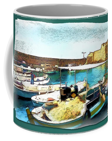 Port Coffee Mug featuring the photograph Do-00346 Byblos Port by Digital Oil