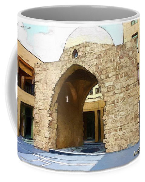 Historic Coffee Mug featuring the photograph Do-00365 Historic Tomb In Downtown by Digital Oil