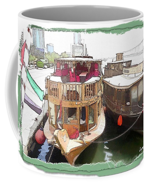 Boats Coffee Mug featuring the photograph Do-00475 Old Boats by Digital Oil