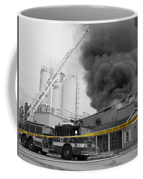 Selective Coloring Coffee Mug featuring the photograph Do Not Cross by Dylan Punke