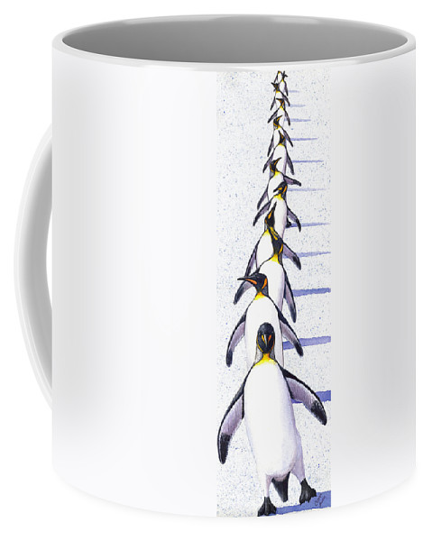 Penguin Coffee Mug featuring the painting Do The Shuffle by Catherine G McElroy