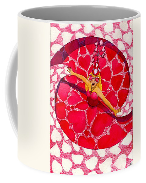 Valentine Coffee Mug featuring the painting Do You Like My Hat by Catherine G McElroy