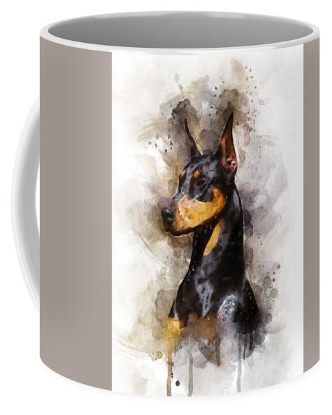 Doberman Coffee Mug For Sale By Aged Pixel