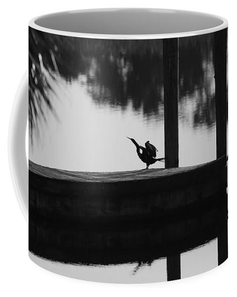 Dock Coffee Mug featuring the photograph Dock Bird by Rob Hans
