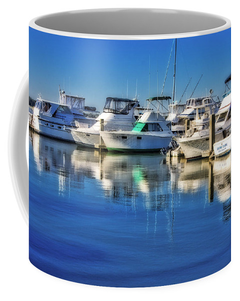 Boat Coffee Mug featuring the photograph Dock O' The Bay by Ches Black