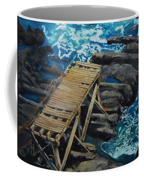 Dock Coffee Mug featuring the painting Dock by Travis Day