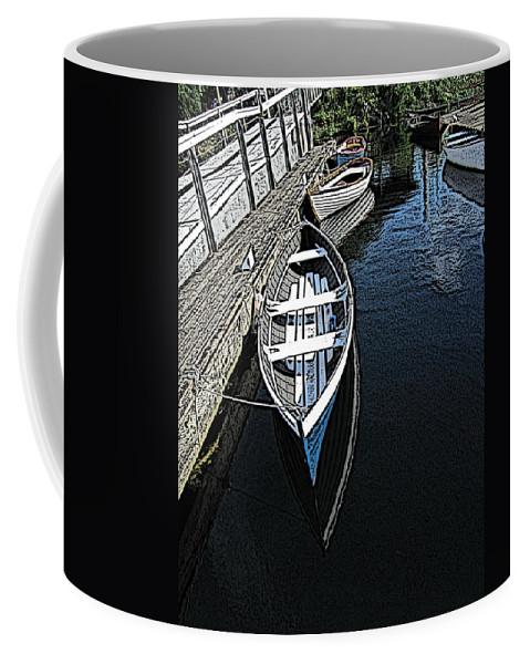 Dock Coffee Mug featuring the digital art Dockside Quietude by Tim Allen