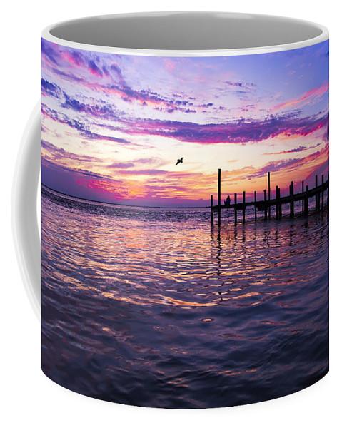 Dock Coffee Mug featuring the photograph Dockside Sunset by Janet Fikar