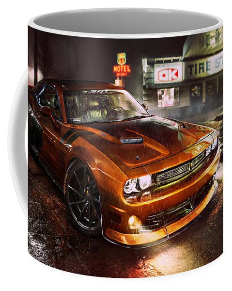 Dodge Challenger R T Coffee Mug featuring the photograph Dodge Challenger R T by Movie Poster Prints