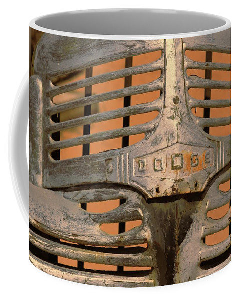 Grill Coffee Mug featuring the photograph Dodge by Douglas Settle