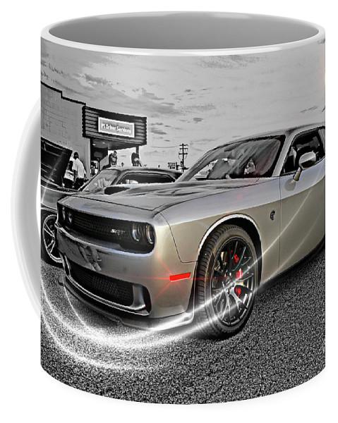 Cars Coffee Mug featuring the photograph Dodge Hellcat by Randy Harris