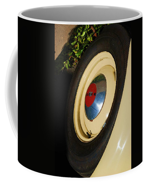 Truck Coffee Mug featuring the photograph Dodge Tire by Rob Hans