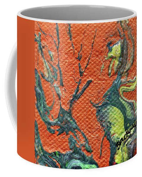 Dodo Bird Coffee Mug featuring the painting Dodo Bird Uprising by Donna Blackhall
