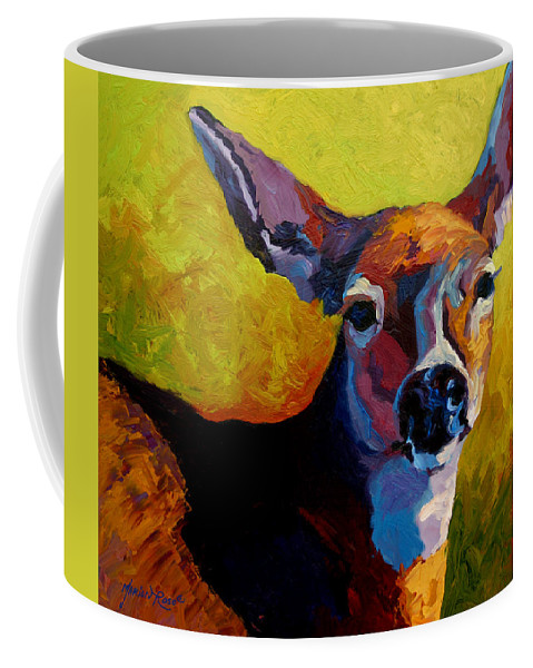Western Coffee Mug featuring the painting Doe Portrait V by Marion Rose