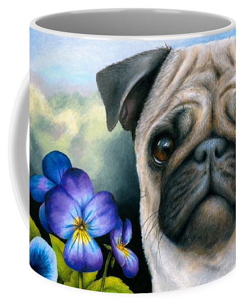 Dog Coffee Mug featuring the painting Dog #133 by Lucie Dumas